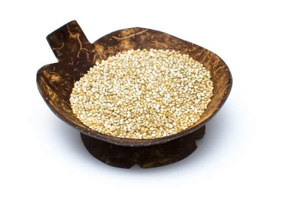 Quinoa in a wooden bowl