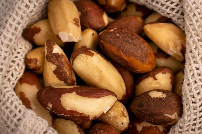 Brazil nuts in a bag