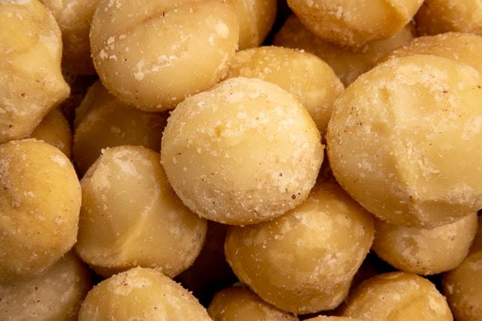 Macadamia nuts closeup