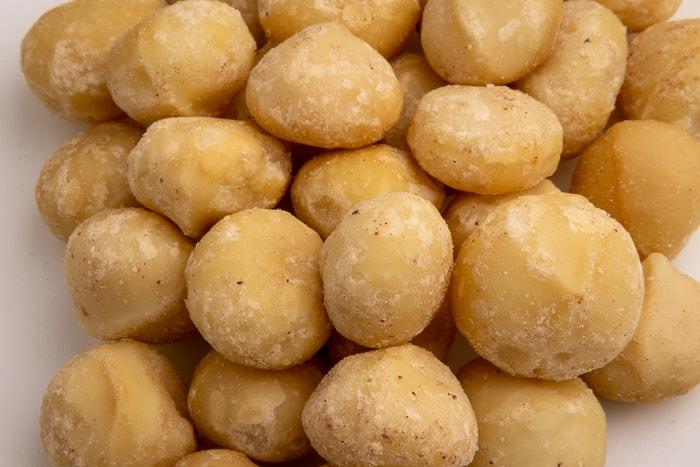 Pile of macadamia nuts